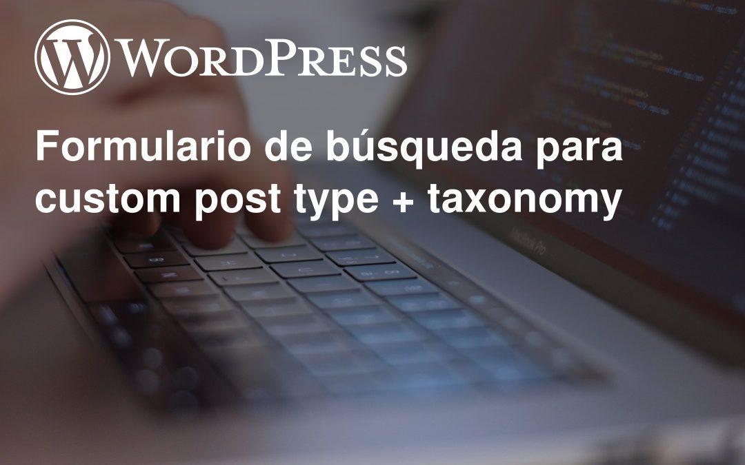 Formulario de búsqueda para custom post type + taxonomy